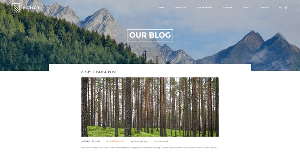 Hency - Photography and Portfolio WordPress Theme