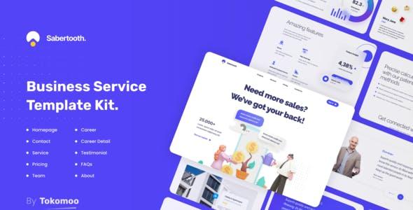 Sabertooth   Business Startup Elementor Template Kit