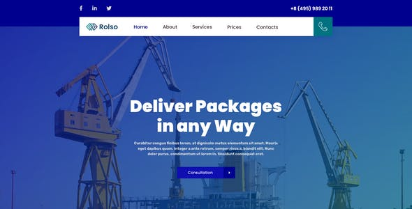 Rolso – Logistic Company Template for Sketch