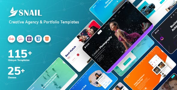 SNAIL - Creative Agency & Portfolio Templates