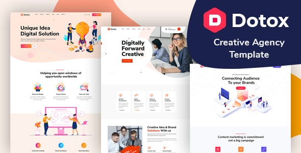 Dotox - Multipurpose Creative Agency PSD Template - Creative Photoshop