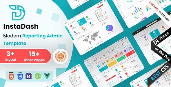 Instadash - VueJS, HTML & SCSS Reporting Admin Dashboard - Admin Templates Site Templates