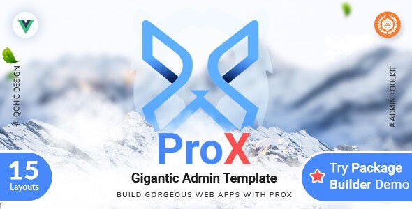 ProX - VueJS, HTML Admin  Dashboard Template + Landing Pages - Admin Templates Site Templates
