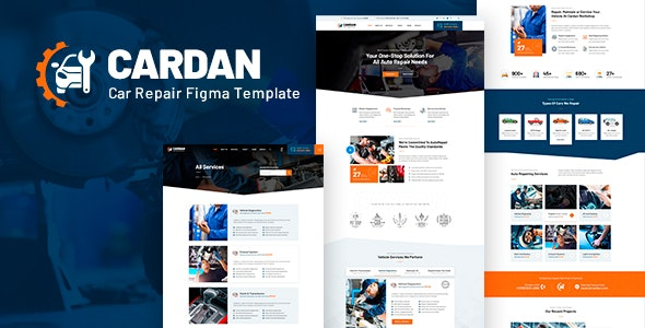 Cardan - Car Repair Services Figma  Template - Business Corporate