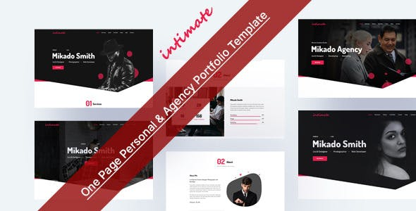 Intimate - One Page Personal & Agency Portfolio HTML-5 Template