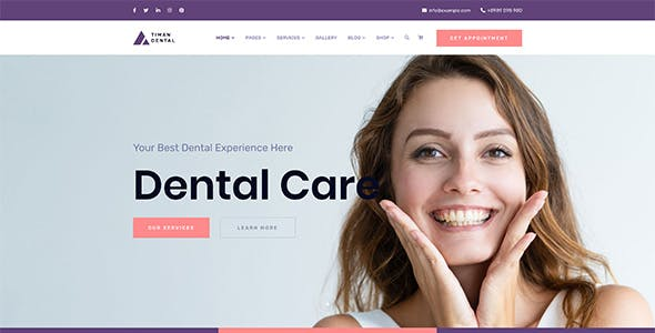 Timan - Dental Clinic & Health WordPress