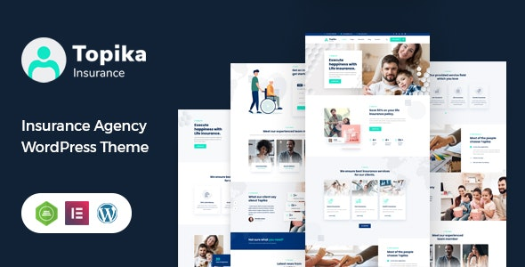 Topika - Insurance Company WordPress Theme - Business Corporate