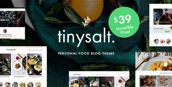 TinySalt - Personal Food Blog WordPress Theme