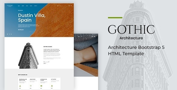 Gothic Architecture Bootstrap 5 HTML Template
