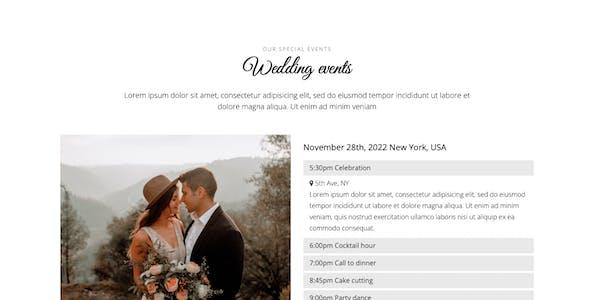 Belle - Responsive Wedding Template