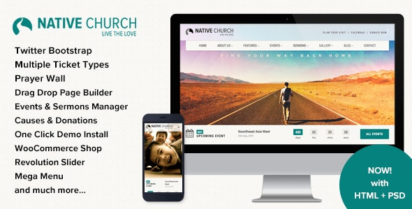 Native Church - Multi Purpose WordPress Theme - Churches Nonprofit