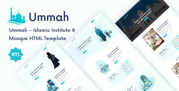 Ummah - Islamic Center HTML5 Template - Nonprofit Site Templates