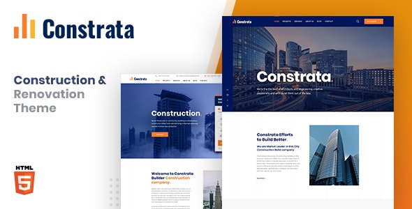 Constrata - Construction & Renovation HTML Template - Business Corporate