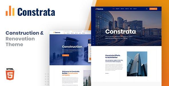 Constrata - Construction & Renovation HTML Template