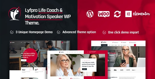 Lyfpro - Life Coach WordPress Theme - Business Corporate