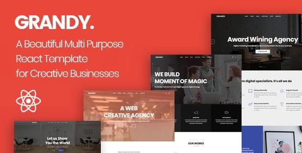 Grandy - Creative Multi Purpose React Template - Creative Site Templates