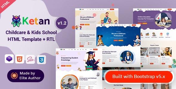 Ketan -Childcare&Kids SchoolHTMLTemplate - Children Retail