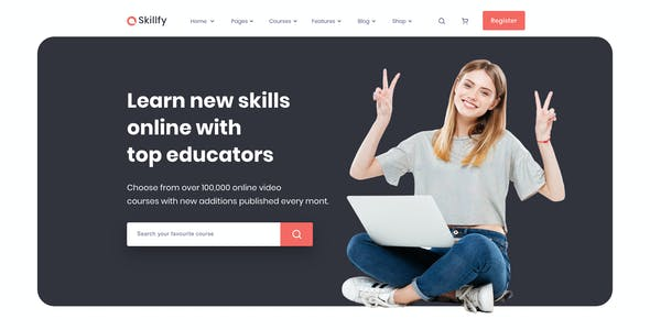 Skilify For Education & Learning Management System Sketch Template