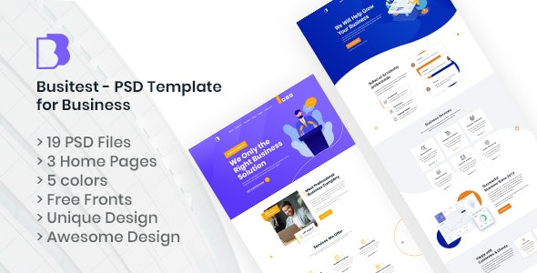 Busitest - PSD Template for Business - Business Corporate