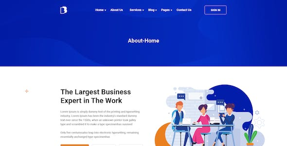 Busitest - PSD Template for Business