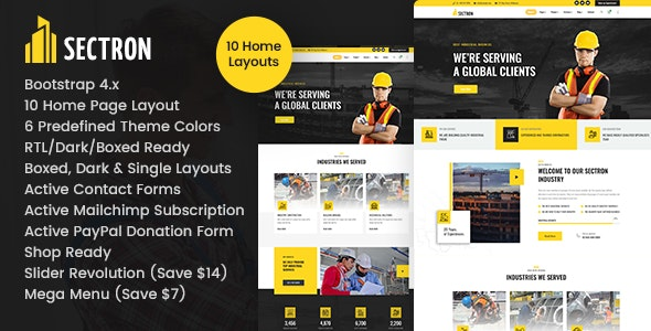 Sectron - Factory Industrial HTML - Business Corporate