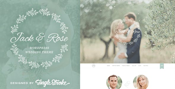Jack & Rose - A Whimsical WordPress Wedding Theme