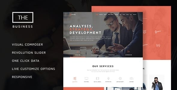 The Business - Powerful One Page Biz Theme - Business Corporate