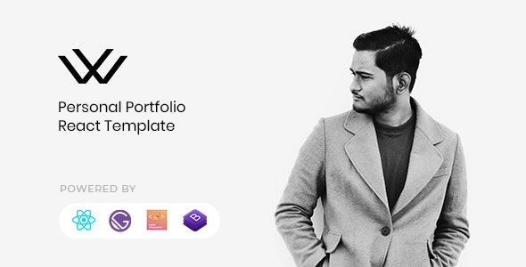 Waxon - React Personal Portfolio & Blog Template - Virtual Business Card Personal