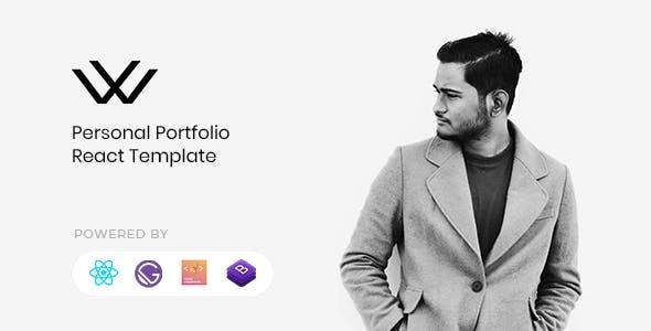 Waxon - React Personal Portfolio & Blog Template