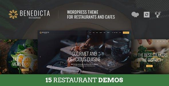 Benedicta - Restaurant & Food WordPress Theme