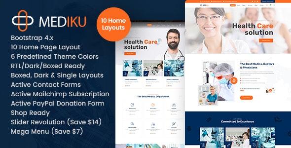 Mediku - Health Medical HTML - Health & Beauty Retail