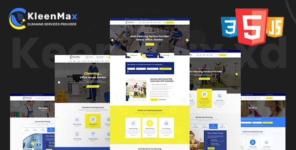 Kleenmax - Cleaning Services & Company HTML Template - Business Corporate