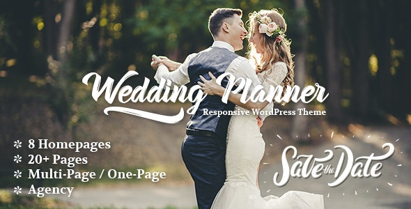 Wedding Planner - Responsive WordPress Theme - Wedding WordPress