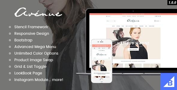 Avenue - Responsive Fashion BigCommerce Theme: Stencil & Google AMP Ready - BigCommerce eCommerce