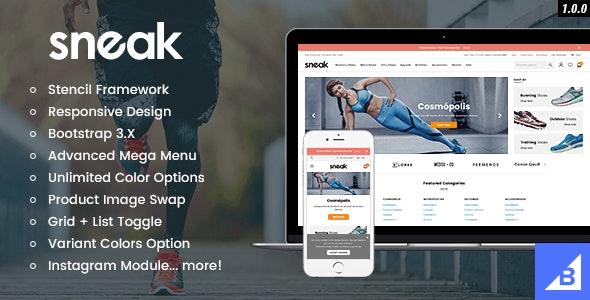 Sneak - Premium Responsive Bigcommerce Theme - BigCommerce eCommerce