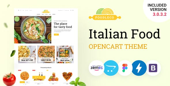 Foodleco - Italian Food Opencart Theme, Pizza Delivery Service
