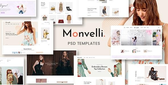 Monvelli – Multipurpose e-Commerce & Blog PSD Templates - Fashion Retail