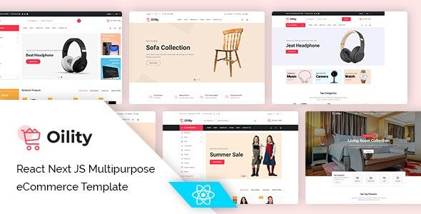 Oility - React Next JS Multipurpose eCommerce Template - Fashion Retail