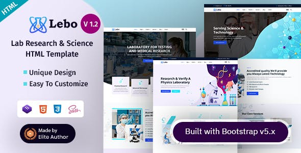 Lebo - Scientific Research HTML Template