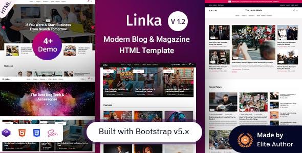 Linka - Modern Blog & Magazine HTML Template