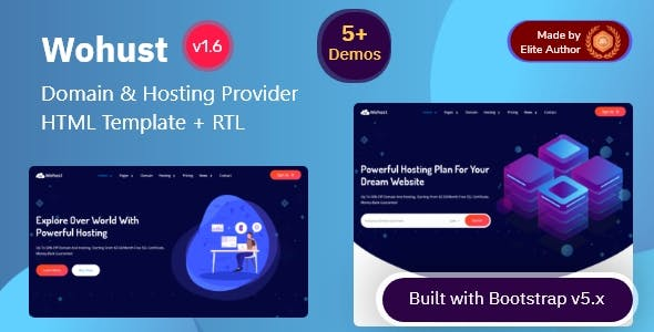 Wohust - Domain & Hosting Provider HTML Template