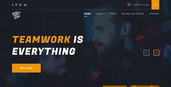 Rhino Team - eSport & Game Events UI Kit