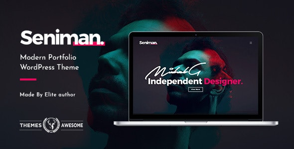 Seniman | Modern Portfolio WordPress Theme - Portfolio Creative