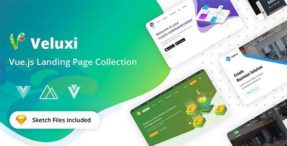 Veluxi - Vue JS Landing Page Collection - Site Templates