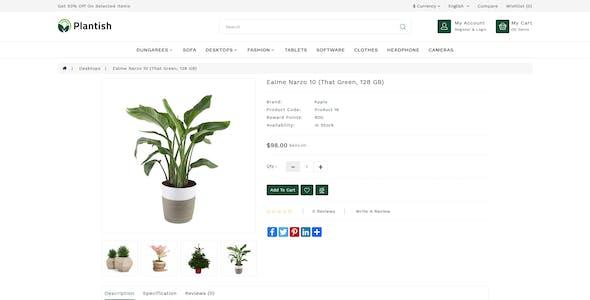 Plantish Plant Responsive OpenCart 3 Theme