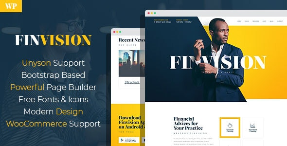 Finvision - Financial Consulting WordPress Theme - Business Corporate