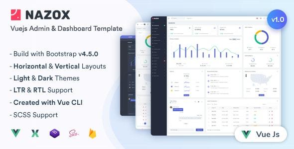 Nazox - Vuejs Admin & Dashboard Template - Admin Templates Site Templates