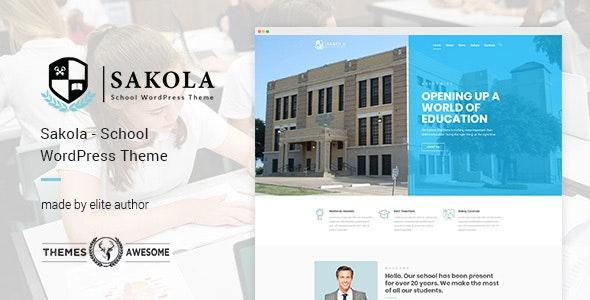 Sakola   School WordPress Theme - Education WordPress