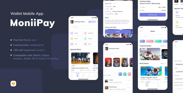 MoniiPay - Wallet Mobile App - UI Templates