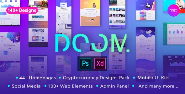 Doom - Massive All in One PSD & XD Pack - Corporate Photoshop